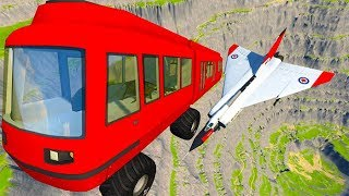 Beamng drive - Throwing Cars At Airplanes