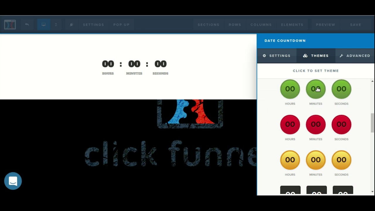 How to use the countdown timer element in the ClickFunnels page editor