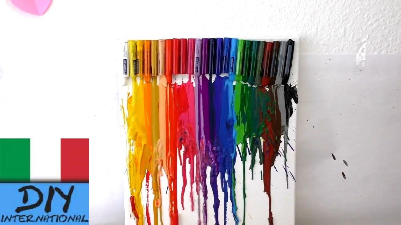 Fai da te quadri sciogliere pastelli a cera diy for Quadri semplici