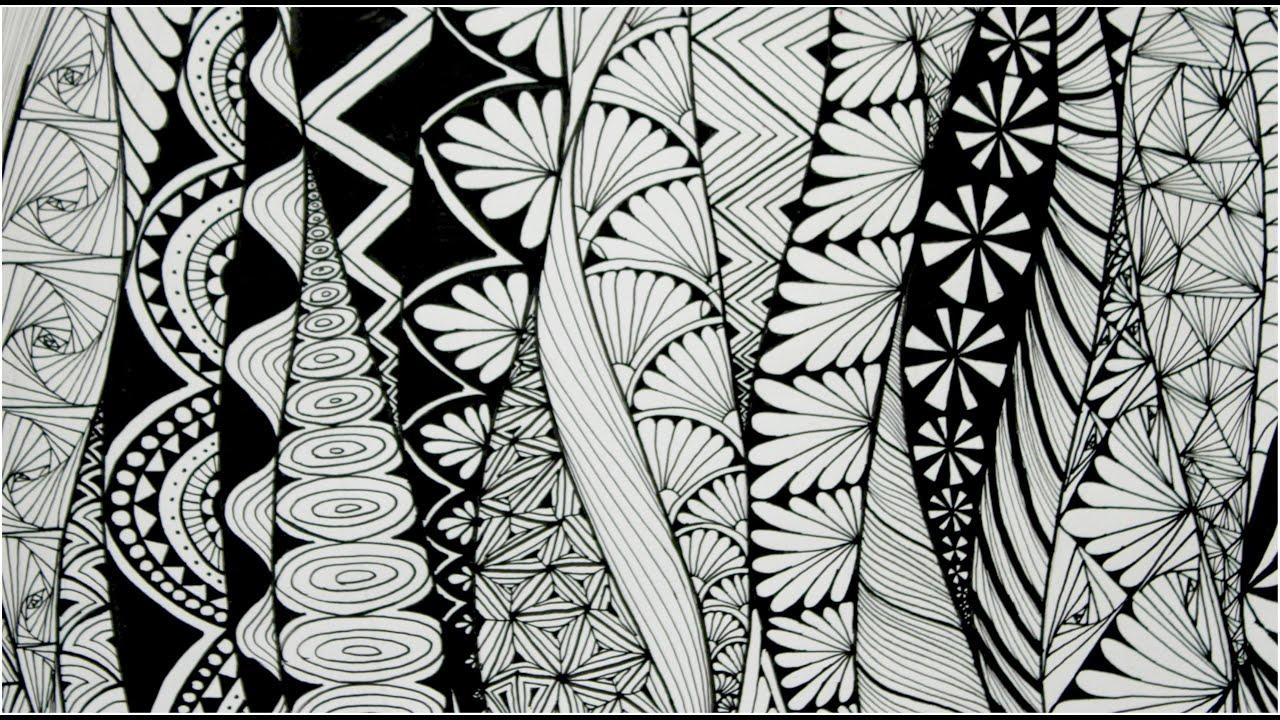 Zentangle Art Doodle Patterns Zen Doodle 3 Youtube