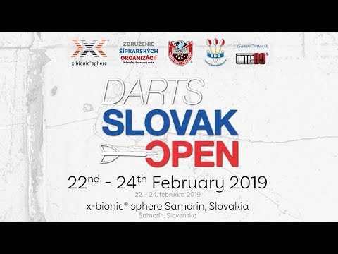 DARTS SLOVAK OPEN 2019 at x-bionic® sphere I  Šamorín I Slovakia I 22.-24. FEBRUÁR 2019