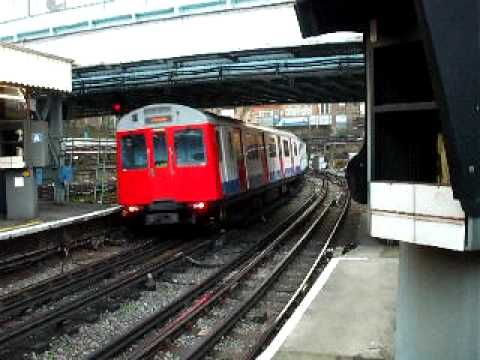 Sub surface trains arrive and depart from Whitechapel Station