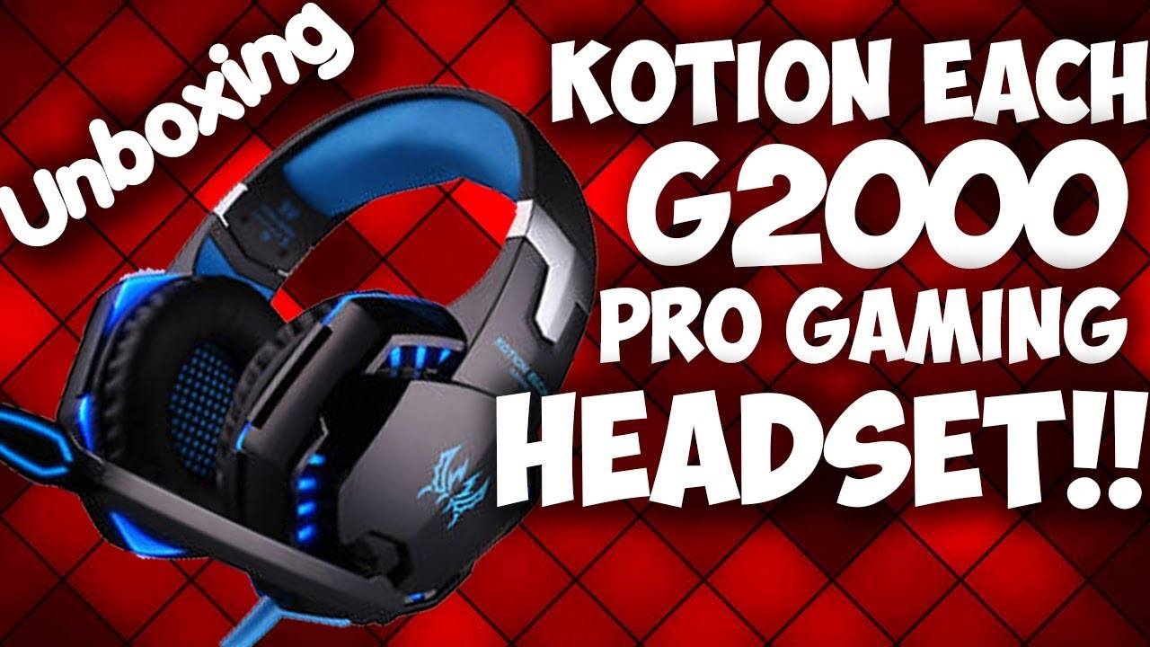 Kotion Each Gaming Headset Unboxing And Review Kotion Each G2000