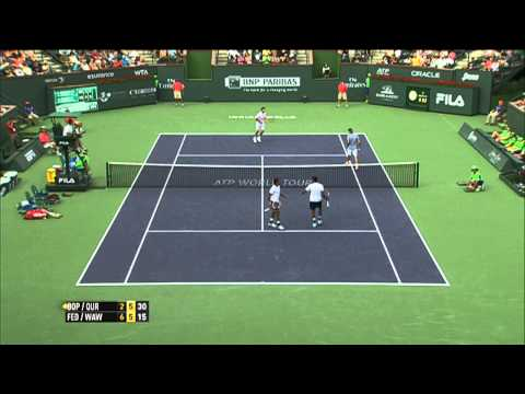 Roger Federer Hits Indian Wells Hot Shot