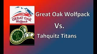 Great Oak Wolfpack Vs. Tahquitz Titans High School Football Scrimmage, Hemet CA. Burrow #44 LB