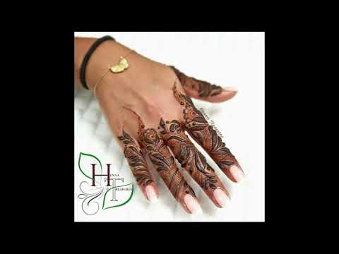 Khaleeji fingers design, bold henna design