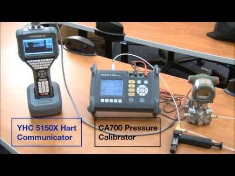YHC5150X and CA700 Analog Pressure Trim of a EJA110E Differential Pressure Transmitter