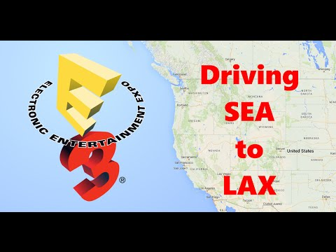 E3 2009 Seattle to Los Angeles Timelapse!