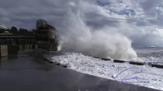Разрушительный Шторм в Сочи 2011