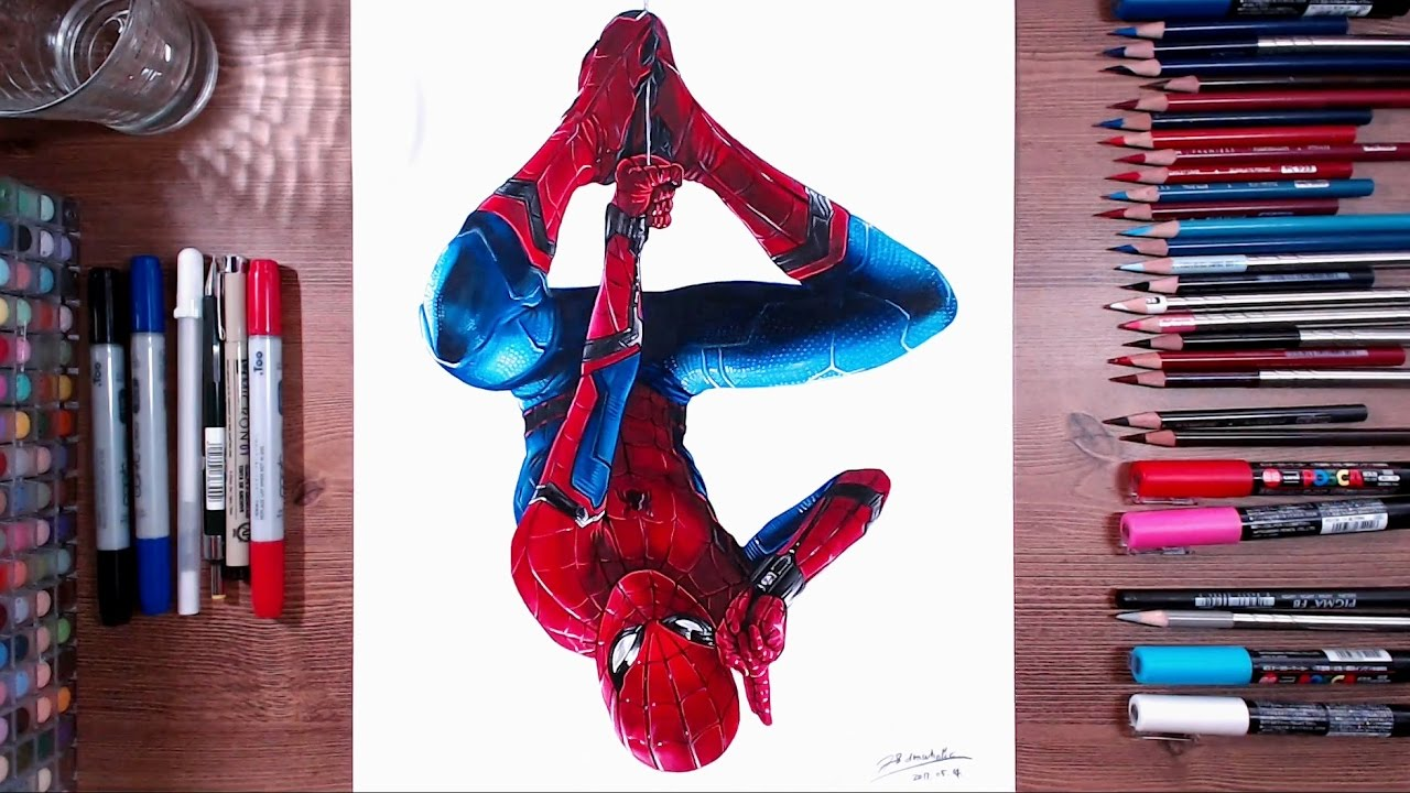 spider man homecoming speed drawing drawholic youtube