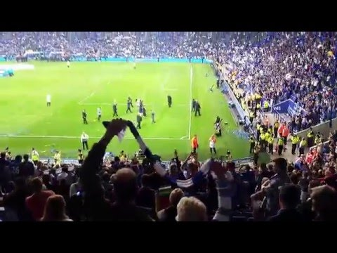 Leicester City singing - WE ARE THE CHAMPIONS!!!!
