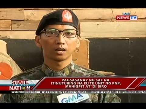 SONA: Pagsasanay ng SAF na itinuturing na elite unit ng PNP, mahigpit at 'di biro