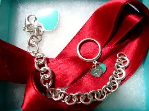 REVIEW: Tiffany & Co. blue enamel heart tag bracelet & ring + How I ...