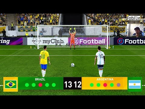 PES 2020 | Brazil vs Argentina | Penalty Shootout | Neymar Jr vs L.Messi