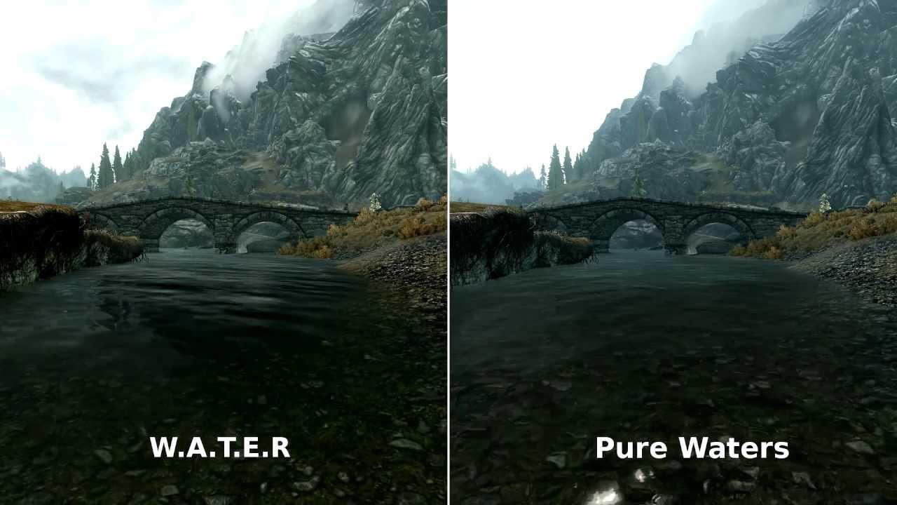 Скачать мод pure waters для skyrim