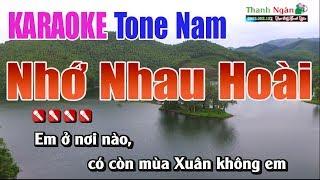Nhớ Nhau Hoài Karaoke || Tone Nam - Nhạc Sống Thanh Ngân
