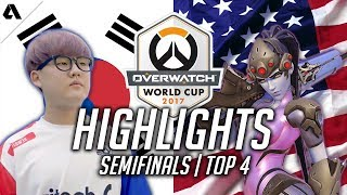 Team South Korea VS USA | Overwatch World Cup 2017 Semifinal Highlights
