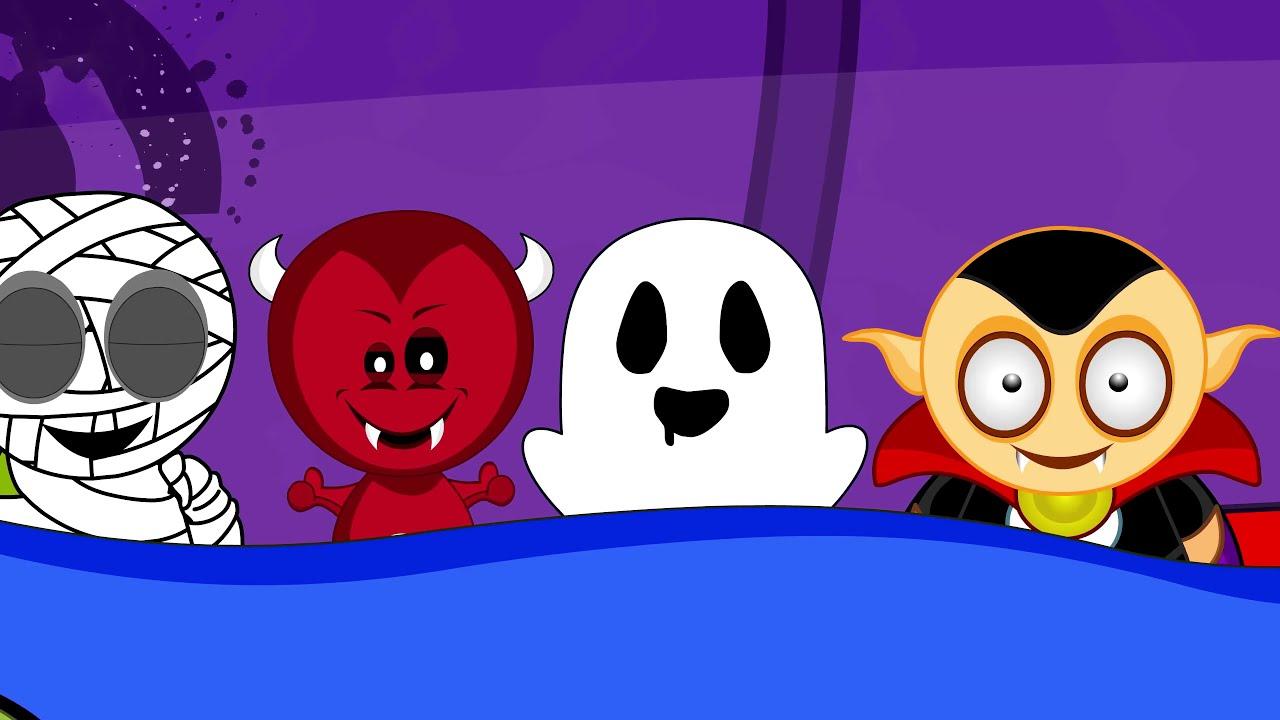 Ten in the Bed Song - Halloween Version - Kids Halloween Songs