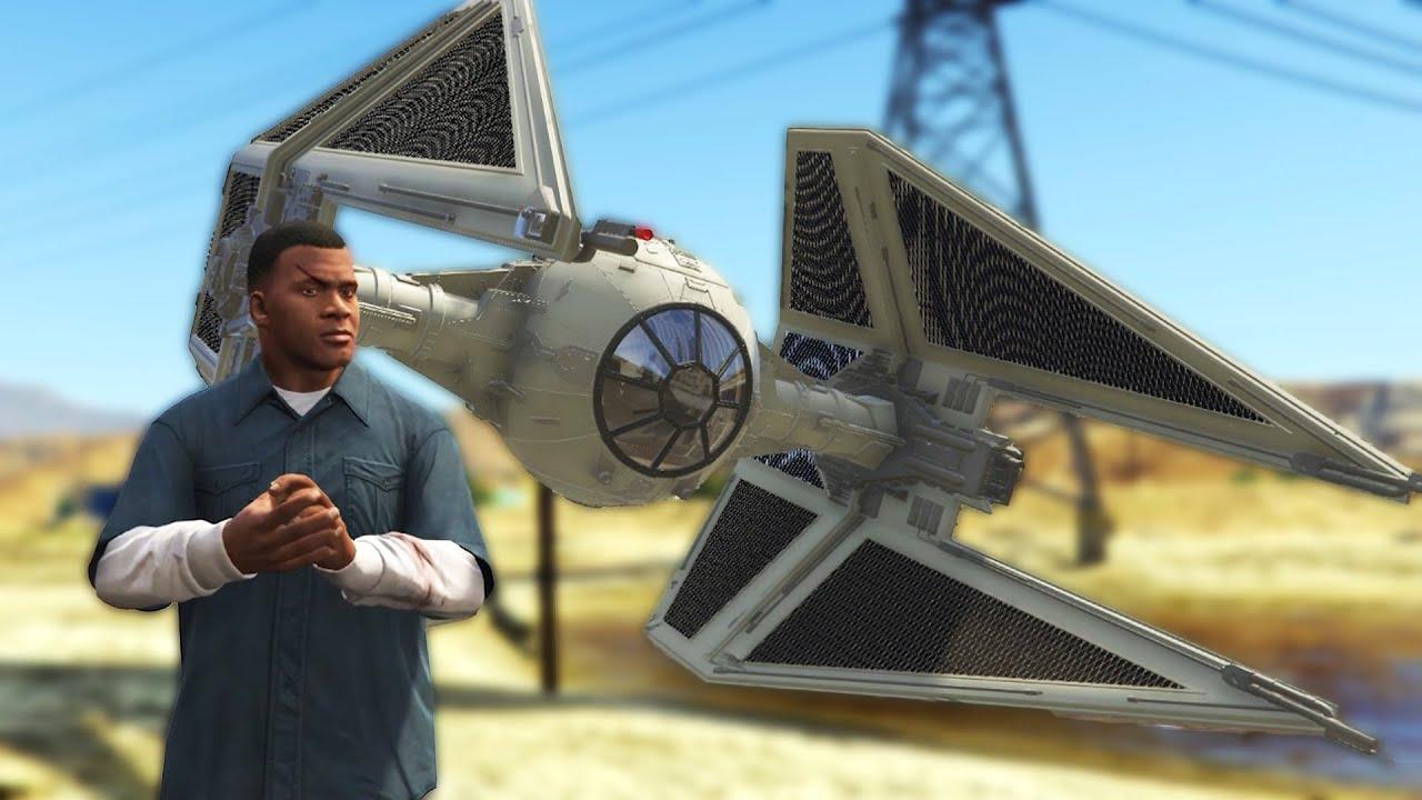 Ich verwandelte Grand Theft Auto 5 in Star Wars + video