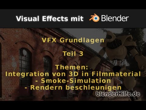 Blender Tutorial - VFX/Filmproduktion - Grundlagen Teil3 - Compositing