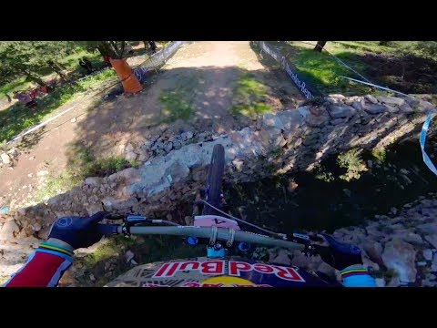 POV: Rachel Atherton's top qualifying run  | UCI MTB World Cup Croatia 2018