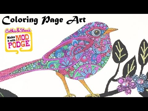 DIY Mixed Media Art With Coloring Pages - YouTube