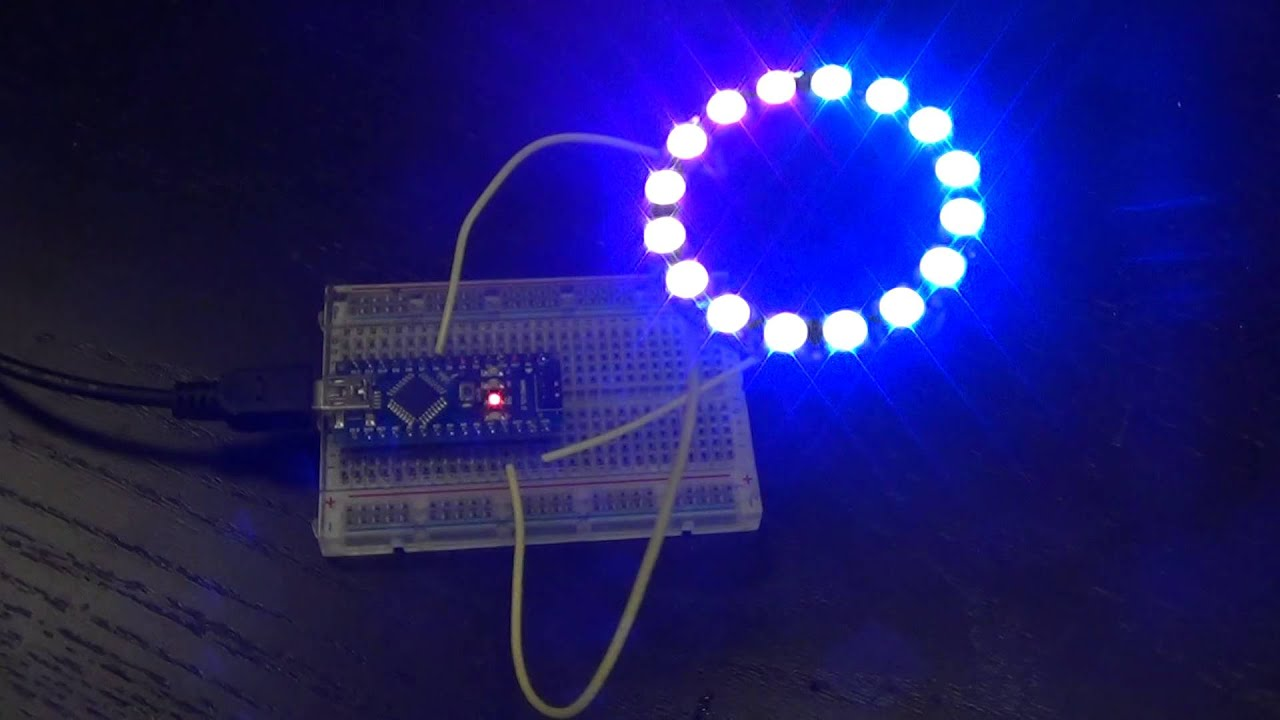 maxresdefault neopixel ring 16 x ws2812 5050 rgb led demonstration youtube WS2812B Controller at edmiracle.co