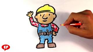 How to Draw Bob the Builder - Easy Pictures to Draw