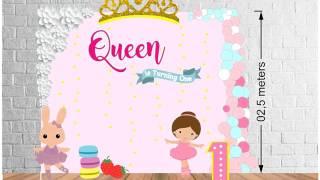 Video Princess theme for birthday backdrop download MP3, 3GP, MP4, WEBM, AVI, FLV Juli 2018