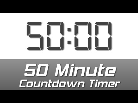 Download 55 Min Simple White Digital Clock Countdown Timer