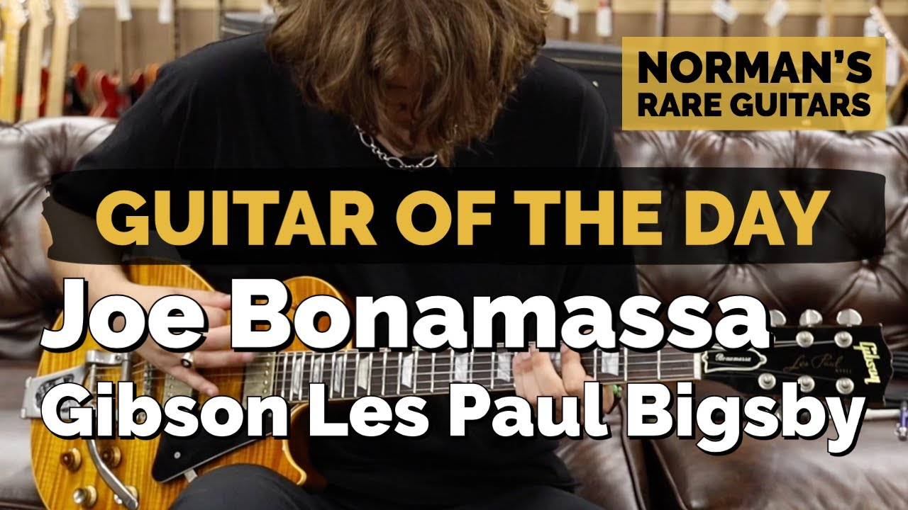 Guitar of the Day: Joe Bonamassa's Gibson Les Paul with a Bigsby | Norman's Rare Guitars