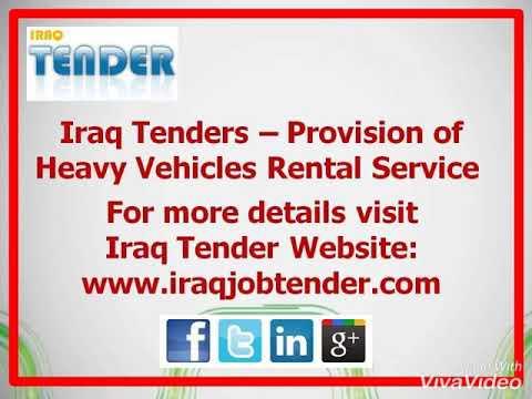Iraq Tender - Provision of Final Development Plan Study