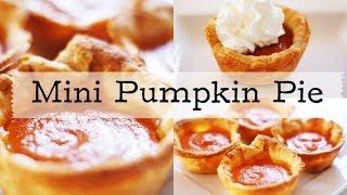 Thanksgiving Mini Pumpkin Pies!