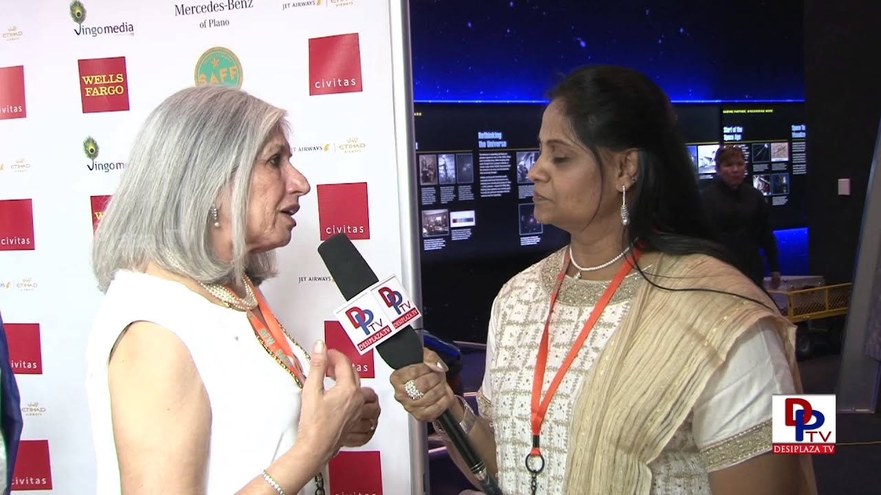 President of New York South Asian Film Festival speaking to Desiplaza TV at SAFF.