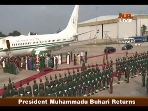 VIDEO: President @MBuhari Returns to #Nigeria , after receiving medical attention in London
