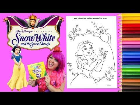 Coloring Snow White Disney Princess Coloring Book Page Colored Pencil Prismacolor | KiMMi THE CLOWN