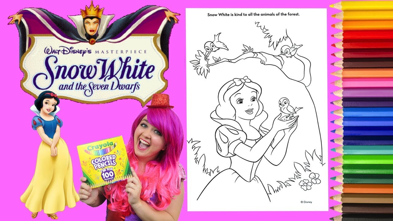 - Coloring Snow White Disney Princess Coloring Book Page Colored