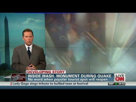Inside Washington Monument during quake