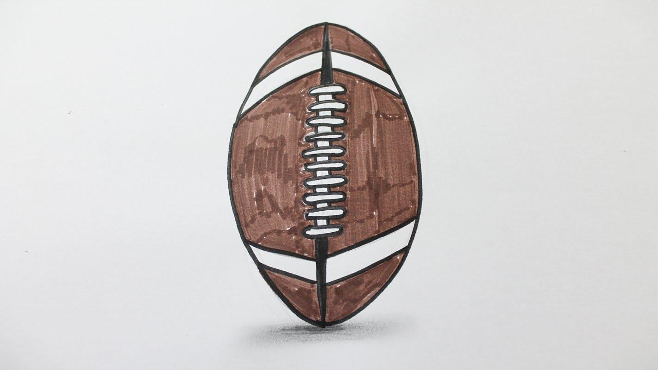 Comment dessiner un ballon de rugby youtube - Comment dessiner un but de foot ...