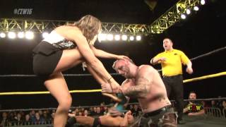 CZW: He Enjoyed It - Male Wrestler Destroys Female Wrestler's Toes (CZWstudios.com)