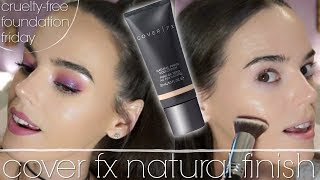 CRUELTY FREE FOUNDATION FRIDAY | Cover Fx Natural Finish