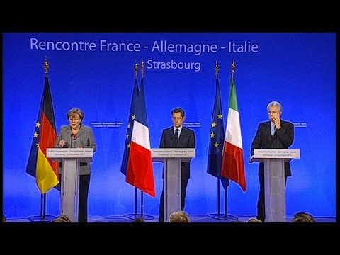 Zone euro : sommet Merkel-Sarkozy-Monti