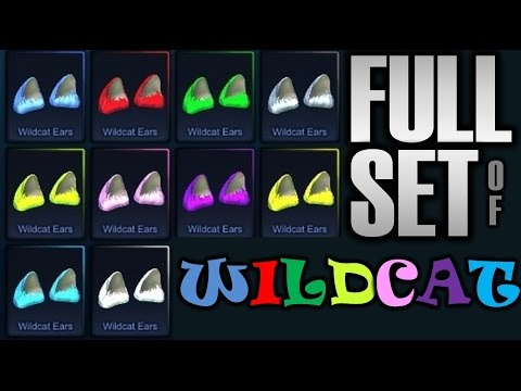 COMPLETE SET SHOWCASE #1 : WILDCAT EARS!! [Rocket League HD : Episode 30]