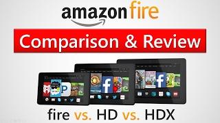 Amazon Fire, HD 8, & HDX Tablets - Comparison & Review