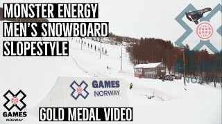 GOLD MEDAL VIDEO: Monster Energy Men's Snowboard Slopestyle | X Games Norway 2020