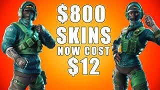 Fortnite Item Shop ($800 Skins are now $12) lmfao