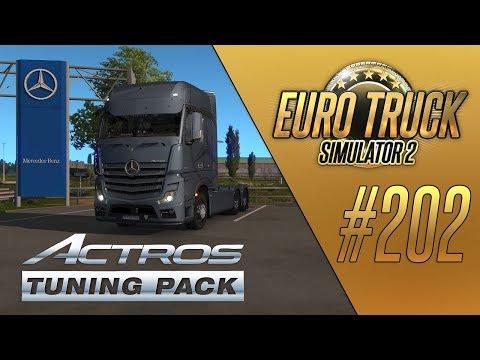 НОВЫЙ ТЮНИНГ ДЛЯ MERCEDES (Actros Tuning Pack DLC) - Euro Truck Simulator 2 (1.35.1.148s) [#202]
