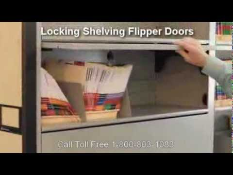Locking Flipper Doors For Shelving Secure Shelf Flip