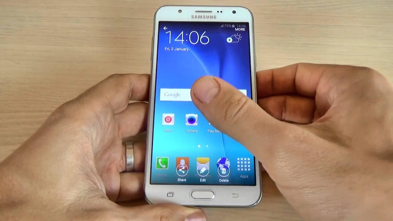 Samsung Galaxy J7 - How to take a screenshot/capture/print screen ...