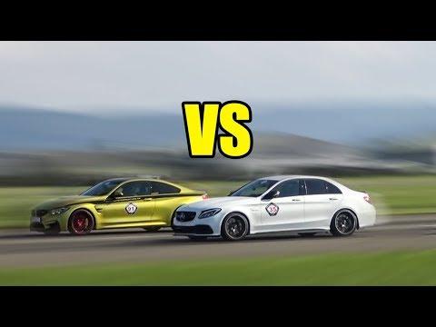 Mercedes C63S AMG Vs BMW M4 - RACE!